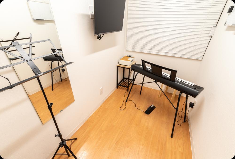 シアー音楽教室。無料でレンタルできるレッスンブース